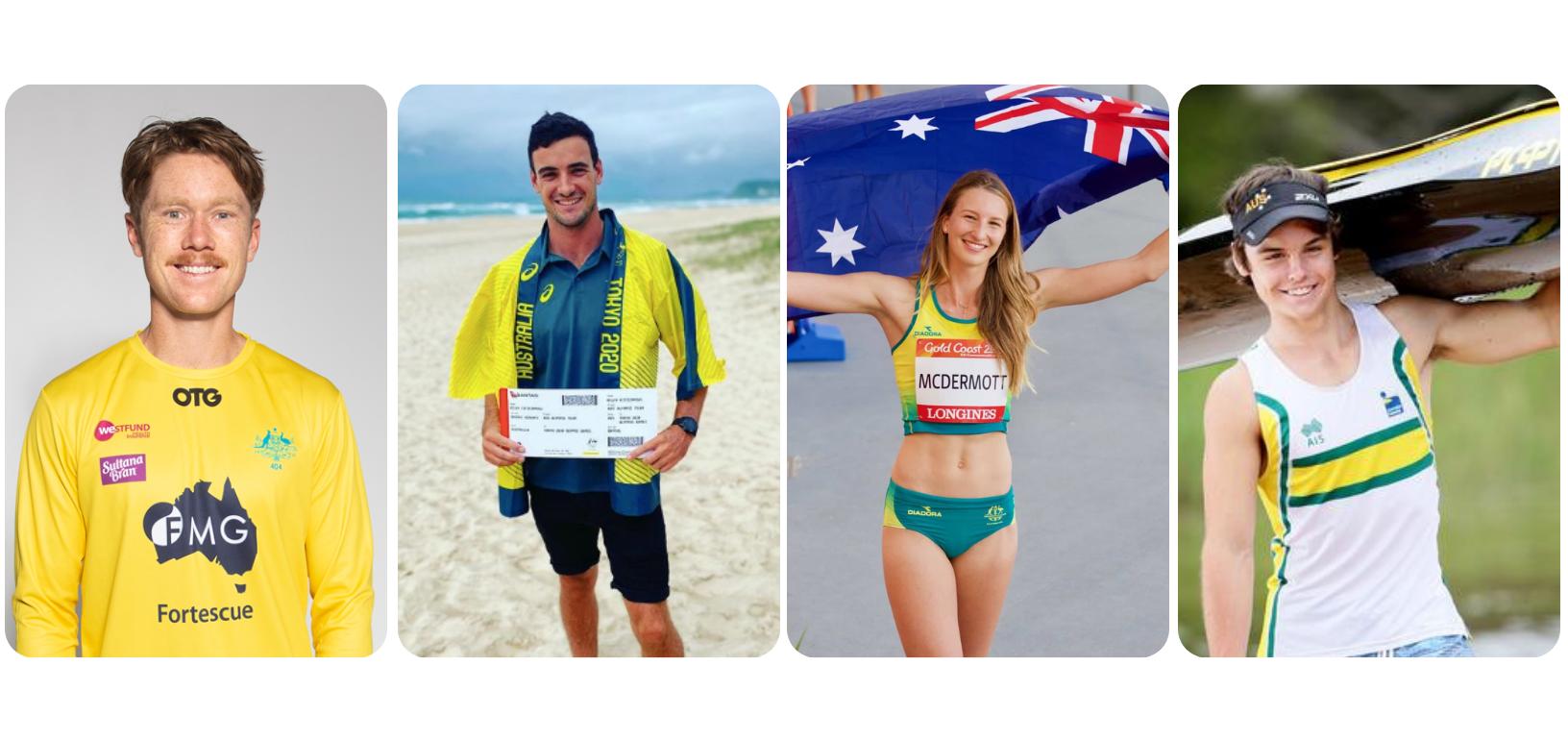 Donnica Clarke Foundation Athletes Matt Dawson, Riley Fitzsimmons, Nicola McDermott and Dylan Littlehales